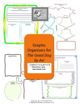 Graphic Organizers for The Good Dog by Avi