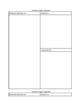 Graphic organizer for summaries