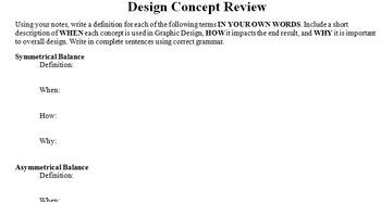 Graphics Design Concept Review