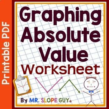 Graphing Absolute Value Functions Algebra PDF Worksheet HS