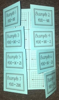 Graphing Absolute Value Functions (Foldable)