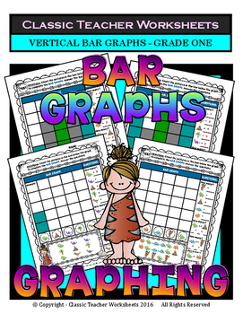 Graphing - Bar Graphs (Vertical) - Grade One - Worksheets/Test