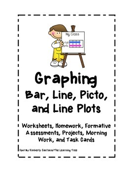 Graphing: Bar, Line, Picto, and Line Plots Bundle