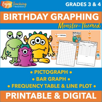 Graphing Birthdays - Monster Theme
