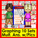 Graphing for Pocket Chart Set 2- Ten Graphing Questions &
