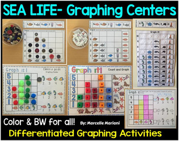 Graphing Center activities and printables (sea life theme)