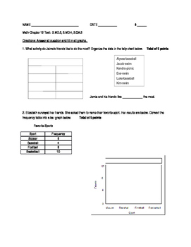 Graphing/Converting Data - Test