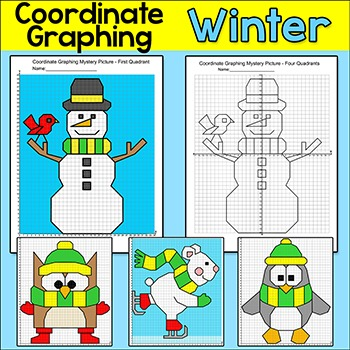 Winter Activities: Graphing Coordinates Ordered Pairs Myst