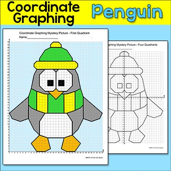 Penguin Coordinate Graphing Ordered Pairs Mystery Picture