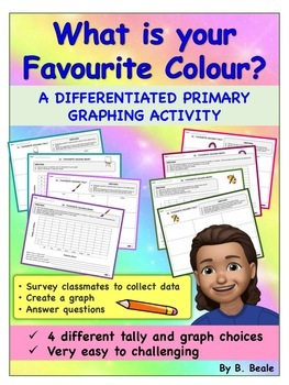 Graphing - Favorite Colors - 8 pages (Differentiated Activities)