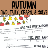 Graphing: Find, Tally and Graph- Fall and Autumn