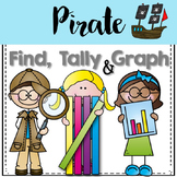 Graphing: Find, Tally and Graph- Pirates