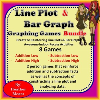 Graphing Games Bundle Line Plot and Bar Graphs