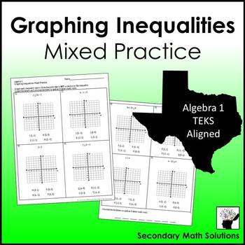 Graphing Inequalities Mixed Practice