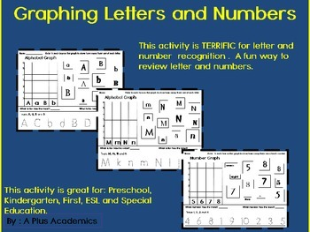 Kindergarten Graphing - Letters and Numbers