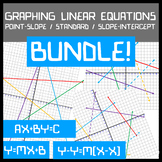 Graphing Linear Equations BUNDLE! Slope-Intercept / Standa