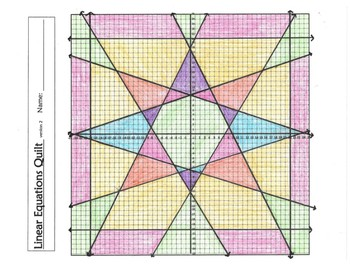 Graphing Linear Equations Quilt- version 2