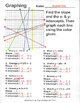 Graphing Linear Equations by Color, Finding Slope and X &