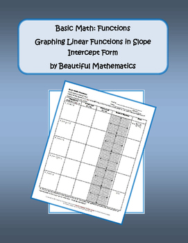 Graphing Linear Equations in SI Form