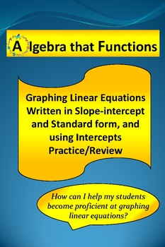 Graphing Linear Equations using Slope and x- and y-interce