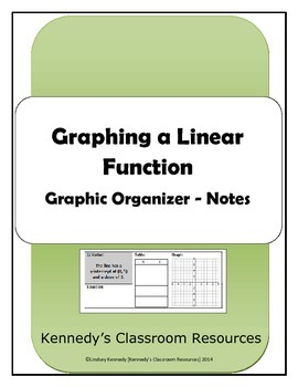 Graphing Linear Functions - Graphic Organizer / Notes