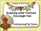 Graphing Linear Functions Scavenger Hunt
