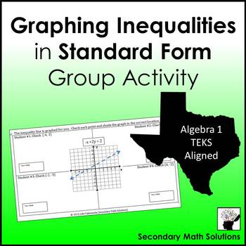 Graphing Inequalities Group Activity