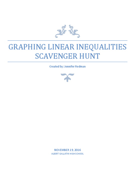 Graphing Linear Inequalities Scavenger Hunt
