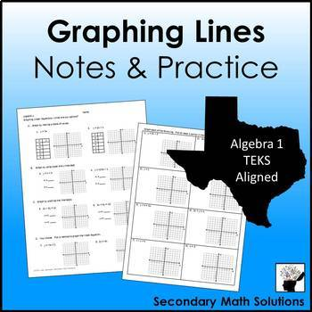 Graphing Lines Notes & Practice (3 Ways)