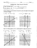 Graphing Lines Slope-Intercept Form Classwork ANSWER KEY