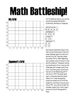 Graphing Math Battleship