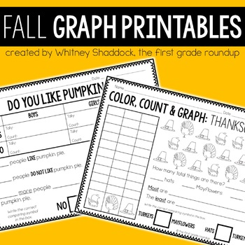 Graphing Printables for K-2: Autumn