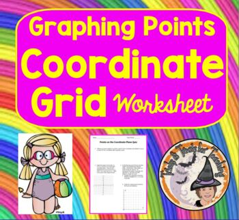 Graphing Points Coordinates on Coordinate Plane Grid Ordered Pair