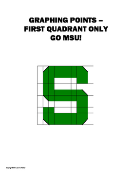 Graphing Points:  First Quadrant Only - Go MSU!