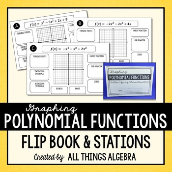Graphing Polynomial Functions Flip Book