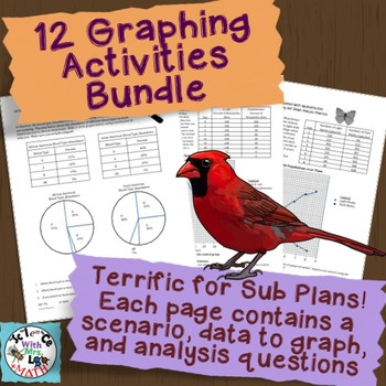 Graphing Practice Bundle: 12 Pages to Graph with Analysis