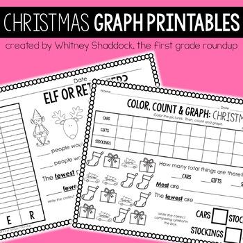 Graphing Printables for K-2: Christmas