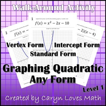 Graphing Quadratic Equation~Any Form~Vertex~Standard~Facto