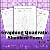 Graphing Quadratic Equations Walk-around Activity-Level 2-
