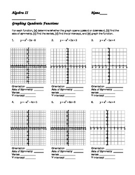 Worksheets Graphing Quadratic Functions In Standard Form Worksheet graphing quadratics in standard form worksheet grimmbr algebra 2 quadratic functions abitlikethis