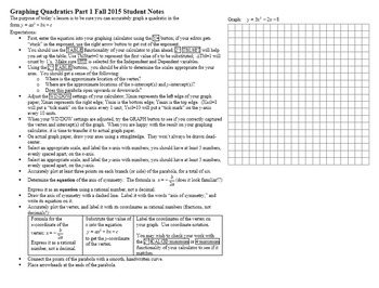 Graphing Quadratics Part I with Student Notes Page Fall 2015