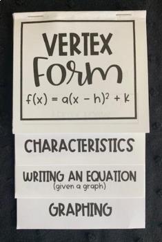 Graphing Quadratics in Vertex Form (Algebra Foldable)