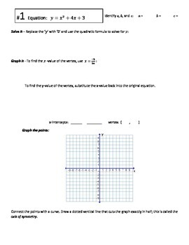 Graphing Quadratics using the Quadratic Formula