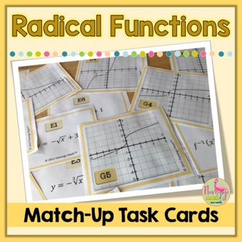 Algebra 2-PreCalculus: Graphing Radical Functions Match-Up