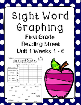 Graphing Sight Words Unit 1. Reading Street. First Grade.