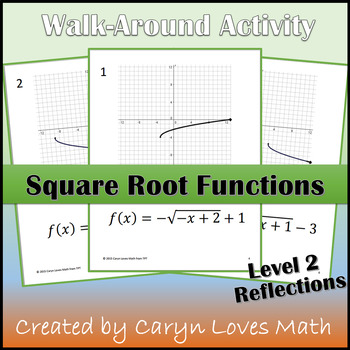 Graphing Square Root Function Walk-around Activity-Level 2