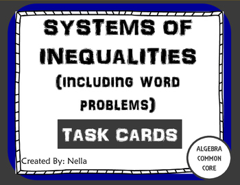 Graphing Systems of Inequalities Task Cards