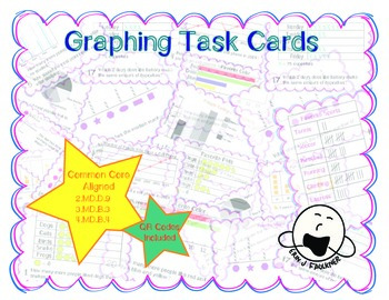 Graphing Task Cards with QR Codes
