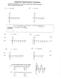 Graphing Trigonometric Functions Amplitude and Periods Cos