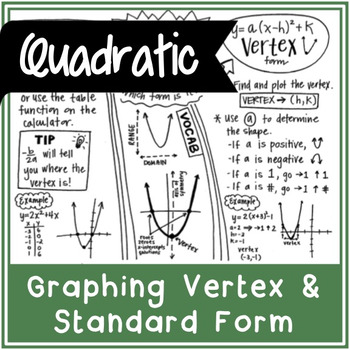 Graphing a Quadratic Function | Doodle Notes
